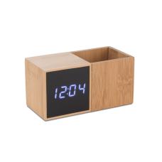 Zegar z przybornikiem na biurko BAMBOO