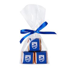 3 czekoladki mini sztabki w woreczku