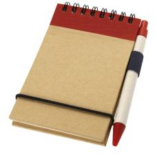 Notatnik A7 z recyklingu z długopisem Zuse