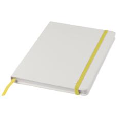 Biały notes A5 Spectrum z kolorowym paskiem