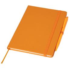 Średniej wielkości notatnik Prime z długopisem