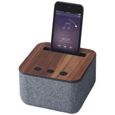 Materiałowo-drewniany głośnik Bluetooth® Shae