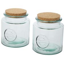 2-częściowy zestaw pojemników ze szkła z recyklingu o pojemności 1500 ml Aire