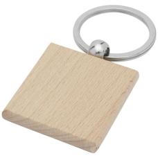 Kwadratowy brelok do kluczy Gioia z drewna bukowego