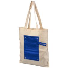 Bawełniana, zwijana torba zapinana na guzik Snap 180 g/m²