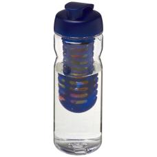 Bidon Base Tritan™ o pojemności 650 ml z wieczkiem zaciskowym z możliwością przyrządzania wody smakowej