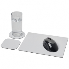 Podkładka pod mysz Brite-Mat® w zestawie z podkładkami pod kubek combo 1