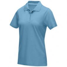 Damska organiczna koszulka polo Graphite z certyfikatem GOTS