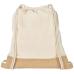 Bawełniano-jutowy plecak Delhi ze sznurkiem ściągającym