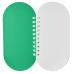 zielony z biala spirala,Notatnik Capsule