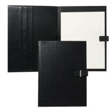 Teczka z notatnikiem A4 Ungaro Uuuu Homme, kolor czarny