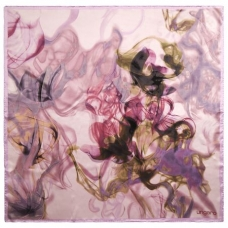 Apaszka duża Ungaro `Vapore`  kolor różowy