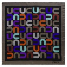 Apaszka duża Ungaro `Monogramma`  kolor brąz