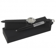 Zestaw Ungaro zegarek Gemma + długopis Alceo, kolor czarny