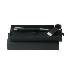 Zestaw Ungaro pendrive 16GB + długopis Uuuu Homme, kolor czarny