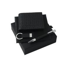 Zestaw Ungaro pendrive 4GB + portfel - etui na wizytówki + długopis seria Uuuu Homme, kolor czarny